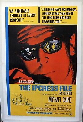 The Ipcress File - Michael Caine - Original American One Sheet Movie Poster