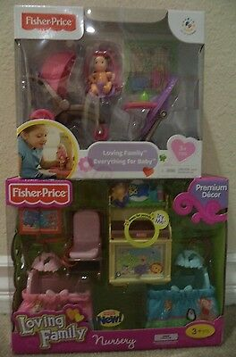 Fisher Price Loving Family Nursery & Everything For Baby Bundle  *nu*