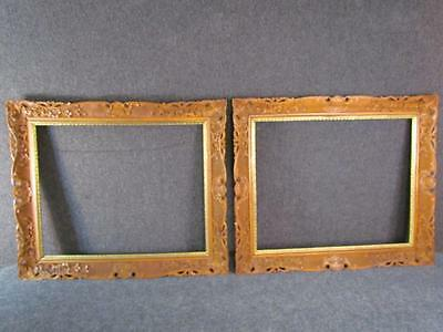 *THE BEST* ANTIQUE 19c. PAIR OF CHINESE EXPORT HAND CARVED PAINTING FRAMES