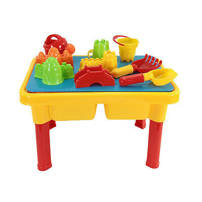 Sand and Water Table with Beach Play Set for Kids BF