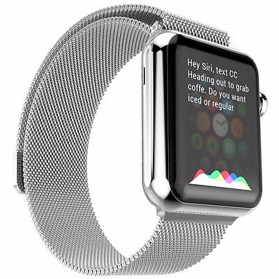 Milanese Loop Stainless Steel Strap Bands For Apple Watch Band iWatch 38mm SRy#
