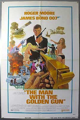 The Man With The Golden Gun - 007 - Original American One Sheet Movie Poster