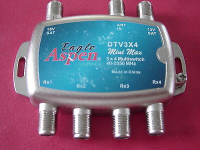 New 3x4 Eagle Aspen multiswitch Bell TV Shaw Direct Starchoice Dish Satellite