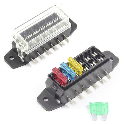 Fuse Box 6 Way for Standard Blade Fuses ATO Holder / Block 12v or 24v Car / HGV