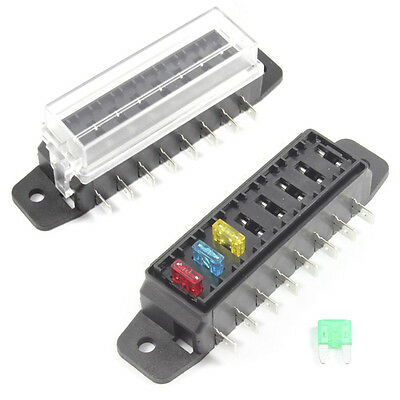 Fuse Box 8 Way for Mini Blade Fuses ATO Holder / Block 12v or 24v Car / HGV