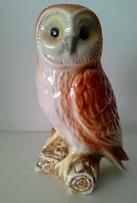 Ceramic Owl bird Figurine, figure, ornament, collectible, porcelain