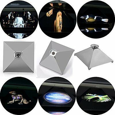 3D Holographic Hologram Display Pyramid Projector for Smart Phone/Tablet ipad