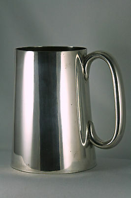 Vtg Silver Plated Tankard George Travis and Co Sheffield 4 3/4 Inches C Handle