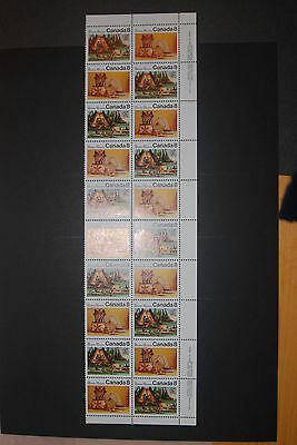 Weeda Canada 567ai VF mint NH block of 20, scarce F/HB paper CV $78.50