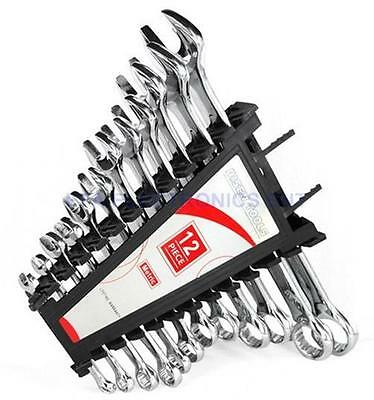 12 Piece Metric Combination Wrench Spanner Set 6-24mm for Mechanics Auto Repair