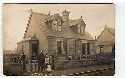 Postcard of a detached house with a LARBERT postmark (C6772).