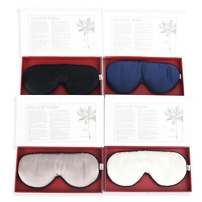 100% Mulberry Silk 19 Mome - Silk eye mask for sleeping and reducing wrinkles