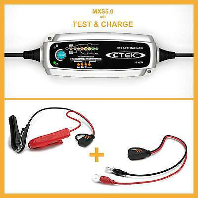 CTEK MXS 5.0 Test & Charge Caricabatterie Caricabatteria 12V Auto