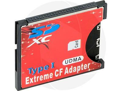 High Speed SDXC SDHC SD to CF Compact Flash Memory Card Reader Adapter Type I