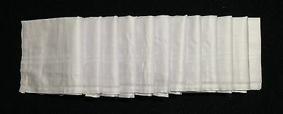 100% Cotton Handkerchiefs Hankies Hankys Mens 42Cm Square Lot