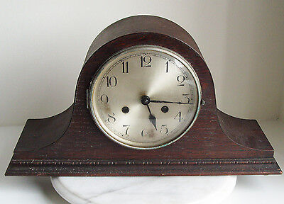 Vintage Haller Napoleon Hat Mantel Clock For Repair/parts