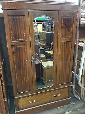 vintage antique style mahogany chifferobe chifforobe. Black Bedroom Furniture Sets. Home Design Ideas