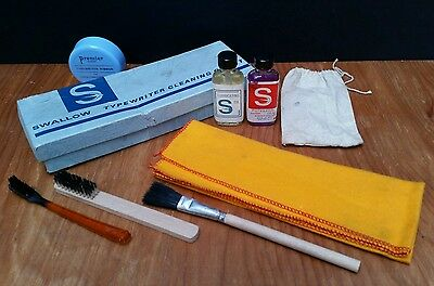 Vintage 1960s Swallow Typewriter Cleaning Outfit Service Kit Imperial Remington
