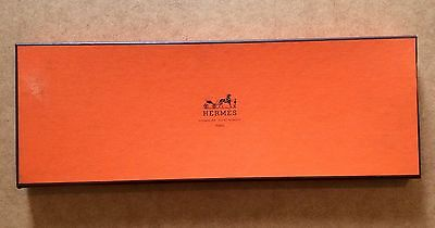 HERMES Tie Box VINTAGE Collectible Orange Brown Cardboard Men France Case Gift