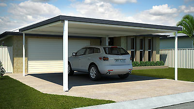 Double COLORBOND® Steel Carport Kit - 6.1m X 6.1m