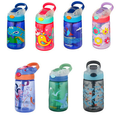 NEW CONTIGO Kids 420ml Water Bottle 2017 Range Child Safe Spill Proof BPA Free