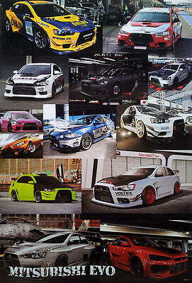 "Mitsubishi Evo POSTER 23""x34"" Japan Cars Lancer Evolution Sports Sedan 13 Models"