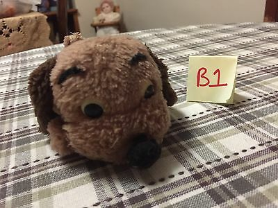 """Vintage 1973 Dakin Drooper Brown Puppy Dog Plush Toy 5"""" Nutshell Clippings"""