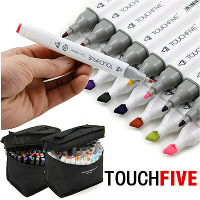 168 Color TouchFive Twin Tip Stylo Graphic Pen Animation Marker Broad Fine Point