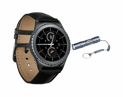 New Samsung Gear S2 SM R732 Classic Bluetooth Smart Watch Black + Armband