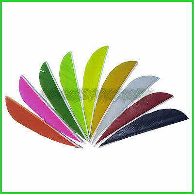"2.5"" Feathers for Archery Arrows Right Wing Longbow RecurveTraditional Compound"