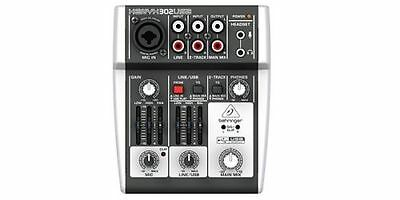 NEW BEHRINGER XENYX 302USB 5-Input mixer USB/Audio Interface From Japan