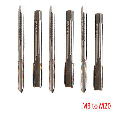 HSS M3 to M20 Metric Taper and Plug Tap Right Hand Thread Pitch 0.5mm to 2.0mm