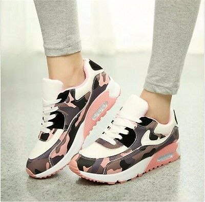 New Women Running Sneakers Athletic Camouflage Sports Breathable Shoes Trainers