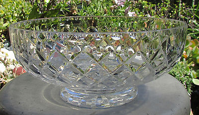 Stunning Vintage Webb Corbett Diamond Cut Crystal Large Master Bowl