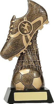Soccer Boot Ball Net Trophy  150mm  Engraved FREE