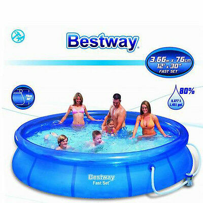 Brand New BESTWAY 12 FT Inflatable Outdoor Swimming Pool Filter Pump 366x76cm