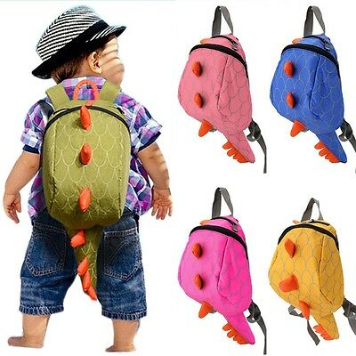 New Girls Boys Backpack School Bags Cartoon Animals Smaller Dinosaurs Snakes