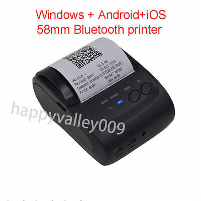 ZJ-5802 58mm portable Bluetooth Receipt POS Thermal Printer for IOS Android PC
