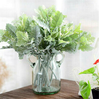 Artificial Dusty Miller Flowers Bridal Wedding Real Touch Bouquet Home Decor