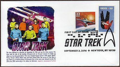 2016 Star Trek ~ Grabner Chapter Afdcs Cachet~4 Diff.combo  First Day Covers Usa