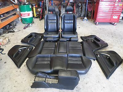 Honda accord euro front seats rear seat door trims 2004 luxury BLACK LEATHER CL9