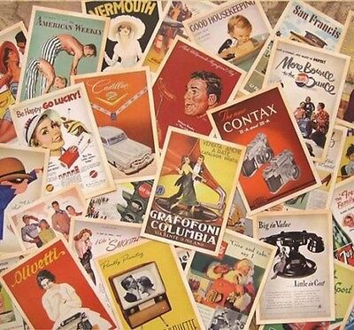 Lot of 32 Mixed Vintage Retro Advertising Movie Travel Postcards Post Cards Gift