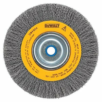 DEWALT DW4906 8Inch Crimped Bench Wire Wheel, 5/8 Arbor, Medium Face, .014Inch
