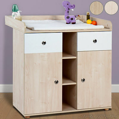 Baby Changing Table Unit Station Chest Drawers Storage Space Nursery Furniture