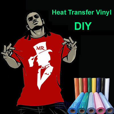 DIY T-Shirt IRON ON Heat Transfer Vinyl Roll Easy Fast Weed 50CM Wide Very Cool
