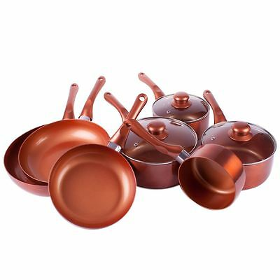 Non Stick Copper Cookware Collection - Scratch Resistant Frying Pans & Saucepans