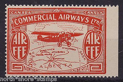 Canada Commercial Airways Orange Air Fee Label Mint MNH
