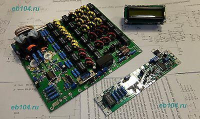 HF power amplifier KIT MOSFET VRF2933 LPF 300W 1.8-30MHz with control and LCD