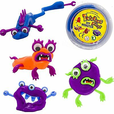 Make Your Own Monster Putty Plasticine Toy Wiggle Eye Gooey Putty Pot Boys Girls
