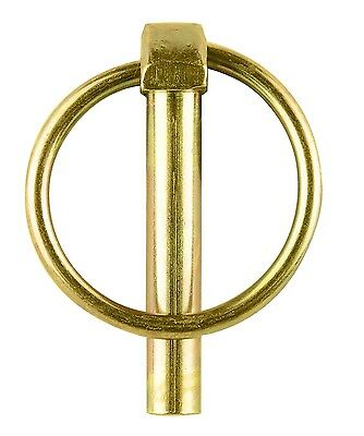 Pinnacle LYNCH PIN 2Pcs,Yellow Zinc Plated, Carbon Steel *AUST 5, 6, 8 Or 10mm